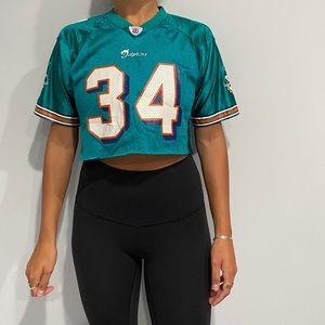 Cropped Miami dolphins jersey